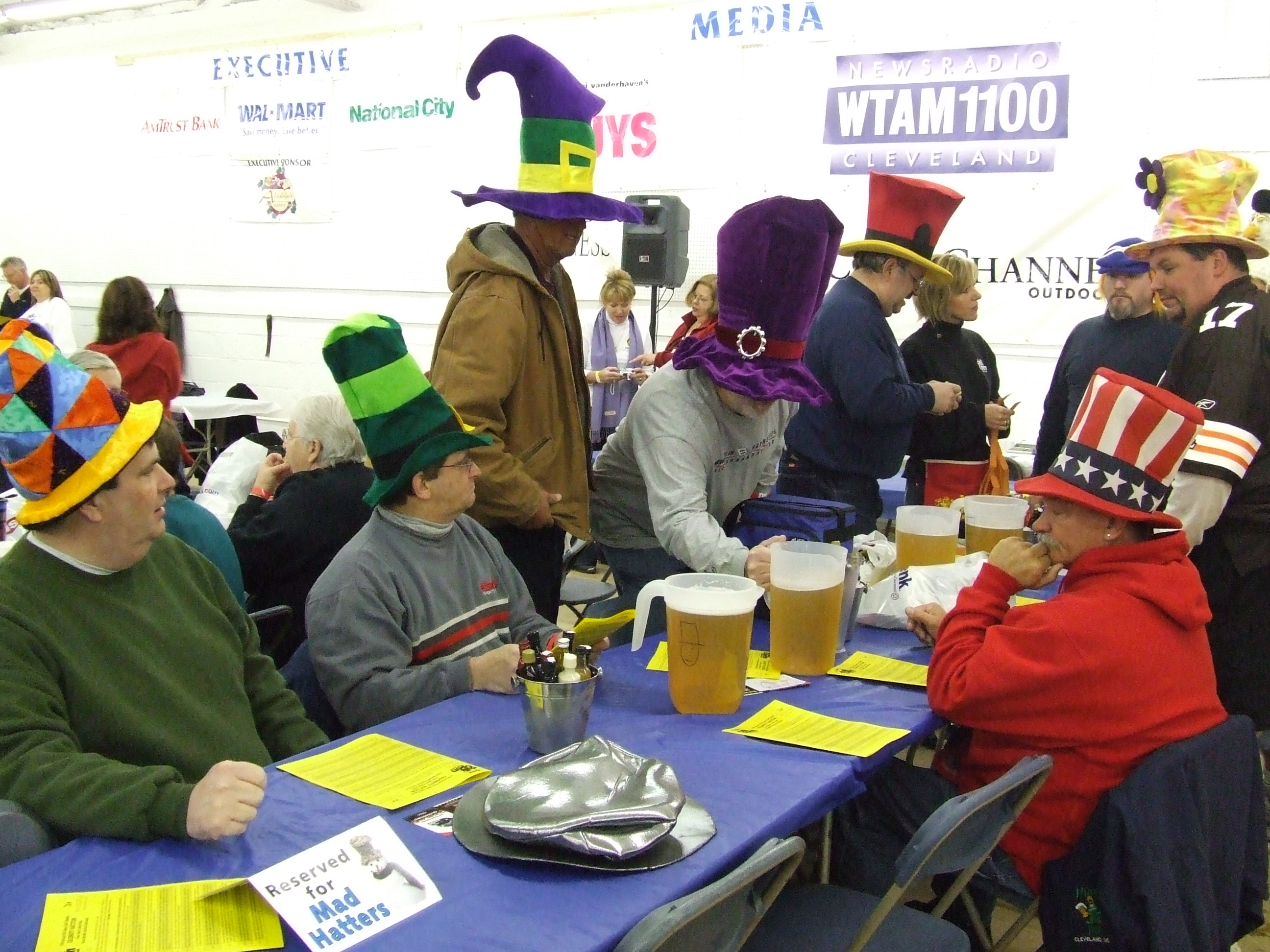 PHOTO : The Hat Guys show up every year to bring controlled chaos to